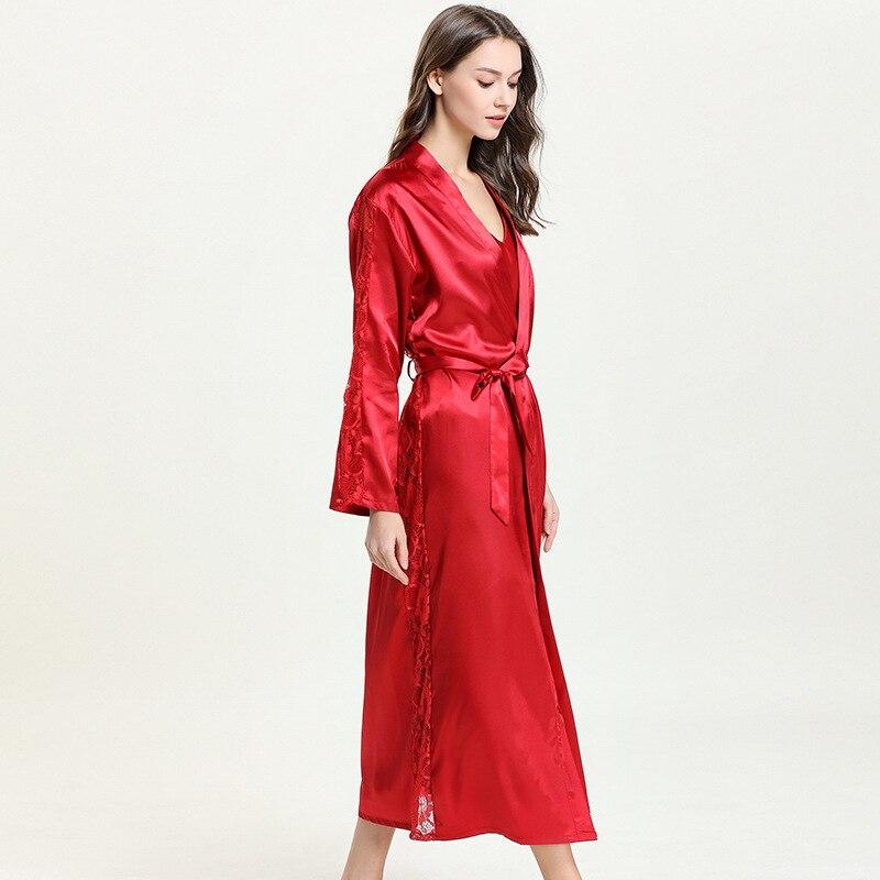 Image 5 - Bathrobe Kimono Sexy Bride Kimono Sleepwear for summer and spring 9676-in Robes from Underwear & Sleepwears