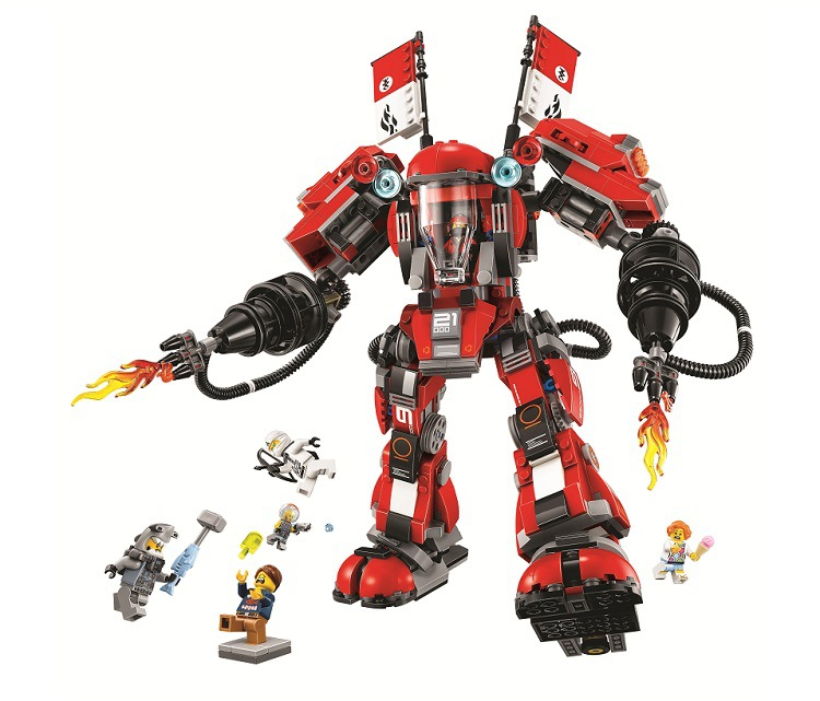 New 10720 Ninja series The Fire Mech Model Building Blocks set Compatible 70615 classic education Toys for children new lp2k series contactor lp2k06015 lp2k06015md lp2 k06015md 220v dc