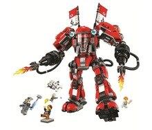 New 10720 Ninja series The Fire Mech Model Building Blocks set Compatible 70615 classic education Toys