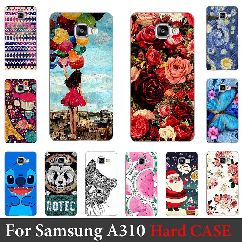 For Samsung Galaxy A310 Case Hard Plastic Mobile Phone Cover Case DIY Color Paitn Cellphone Bag Shell