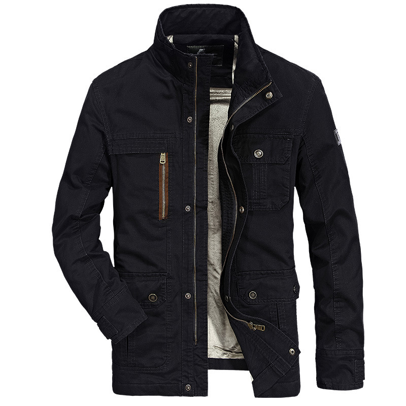AFS veste hommes épaississement manteau Slim Fit vestes vêtements mode chaud homme décontracté veste pardessus caban grande taille 4XL