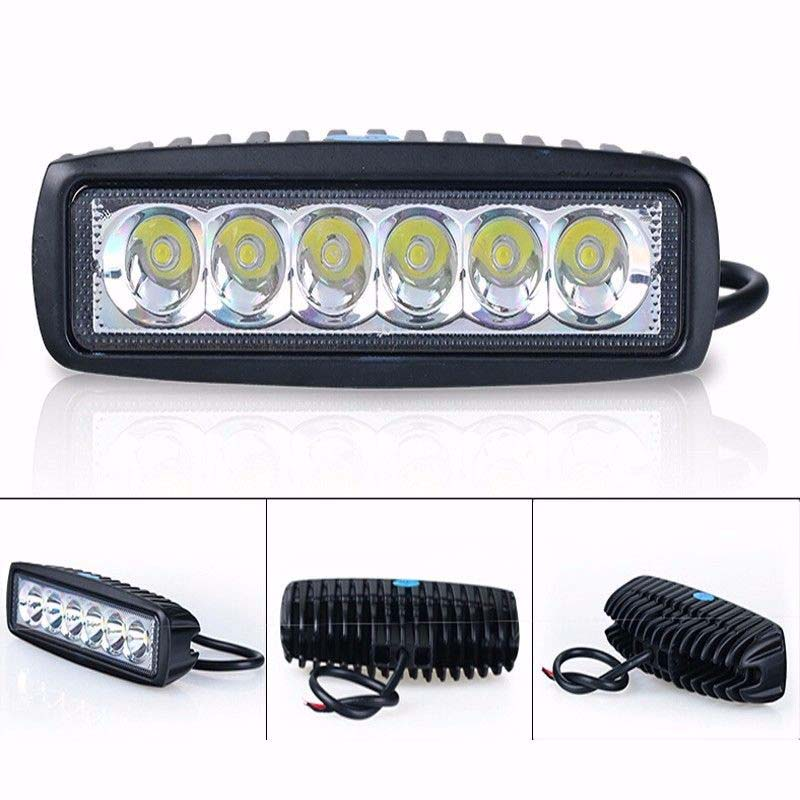 18W 12V LED Work Light Bar Spotlight Flood Lamp Driving Fog Offroad LED Work Car Lights for Jeep Toyota SUV 4WD Boat Truck WD0 spotlight flood lamp combo tri row 7d led work light bar driving fog offroad led car lights ip68 108w for suv atv truck