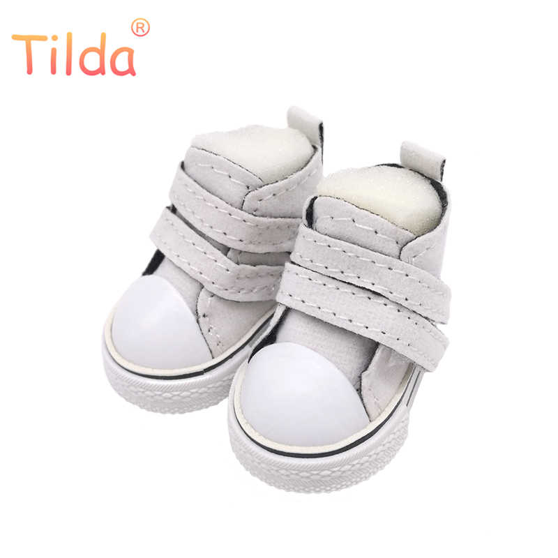 6ad5f732d216c Tilda Mini Doll Toy Shoes 5cm For EXO Korea 20cm Plush Doll,Doll Boots 1/6  Sneakers Shoes for Tilda Doll Puppet Shoes 5pairs/lot