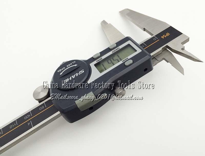 Бесплатная доставка высокое качество цифровой дисплей calipers.0 - 150 мм 0 - 6 дюймов штангенциркуль