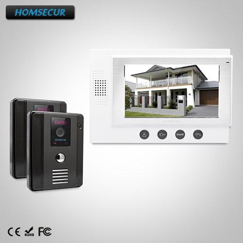 "Здесь продается  HOMSECUR 7"" Wired Video Door Phone Intercom System+Intra-monitor Audio Intercom: TC011-B Camera (Black)+TM701-W Monitor (White)  Безопасность и защита"