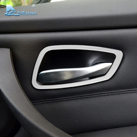 Airspeed 4pcs Lot Aluminium Alloy Door Handle Frame Decoration Interior Trim Strips For BMW E90 3