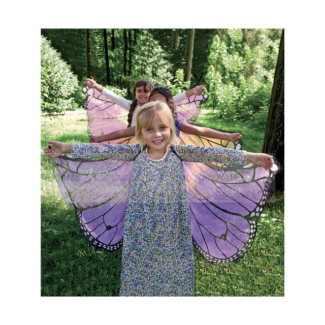 Kids Girl Princess Fairy Butterfly Wings Blue Pink Purple