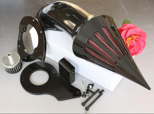 Piezas de la motocicleta filtro de entrada de Aire Spike Limpiador Kits para Honda Shadow 600 VLX600 1999-2012 NEGRO