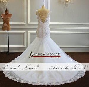 Image 3 - חתונה זר בת ים פניני חתונה שמלה עם נחמד בחזרה לקוחות סדר