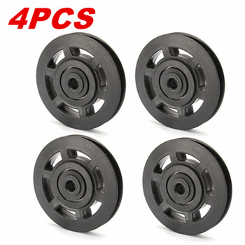 4 piezas unids 95mm Universal cojinete polea rueda Cable Fitness equipos accesorios gimnasio equipo parte resistente al desgaste herramienta