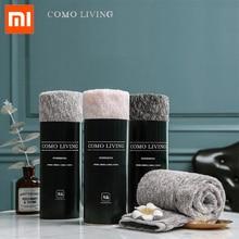 منشفة شاومي من خيوط نسيج القطن المتناثر بالتياني/منشفة حمام من القطن بنسبة 100% و3 ألوان منشفة يد عالية الامتصاص لحمام الوجه