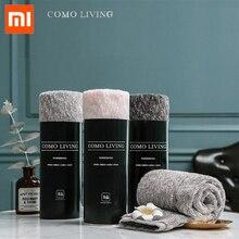 Xiaomi מגבת COMOLIVING Tianyi כותנה פתית שלג חוט מגבת/אמבטיה מגבת 100% כותנה 3 צבעים מאוד סופג אמבט פנים יד מגבת