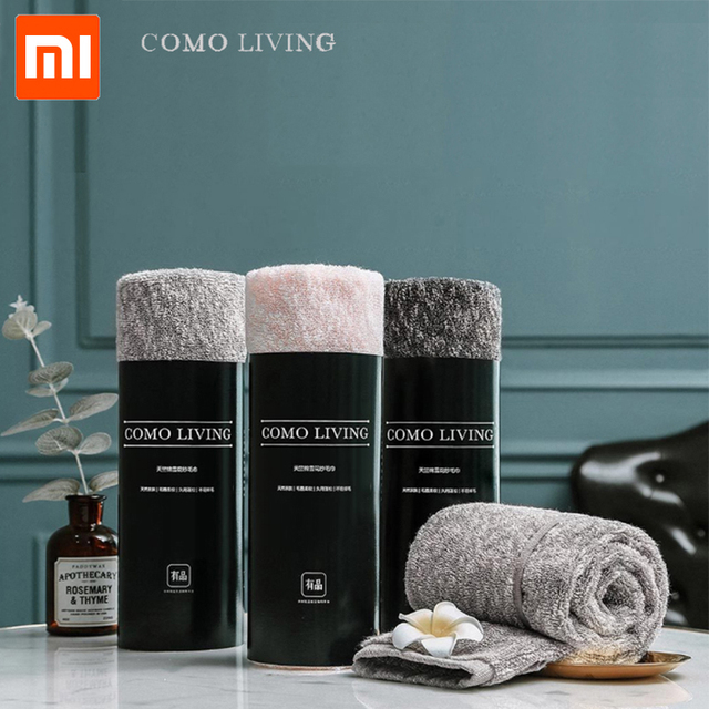 Xiaomi Towel COMOLIVING Tianyi Cotton Snowflake Yarn Towel/Bath Towel 100% Cotton 3 Colors Highly Absorbent Bath Face Hand Towel