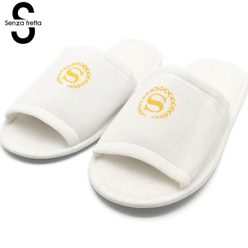 Senza Fretta Womens Shoes Unisex Indoor Hotel Travel Spa Portable Slippers House Guest Indoor Soft Slippers 27cm Drop ShippingSenza Fretta Womens Shoes Unisex Indoor Hotel Travel Spa Portable Slippers House Guest Indoor Soft Slippers 27cm Drop Shipping