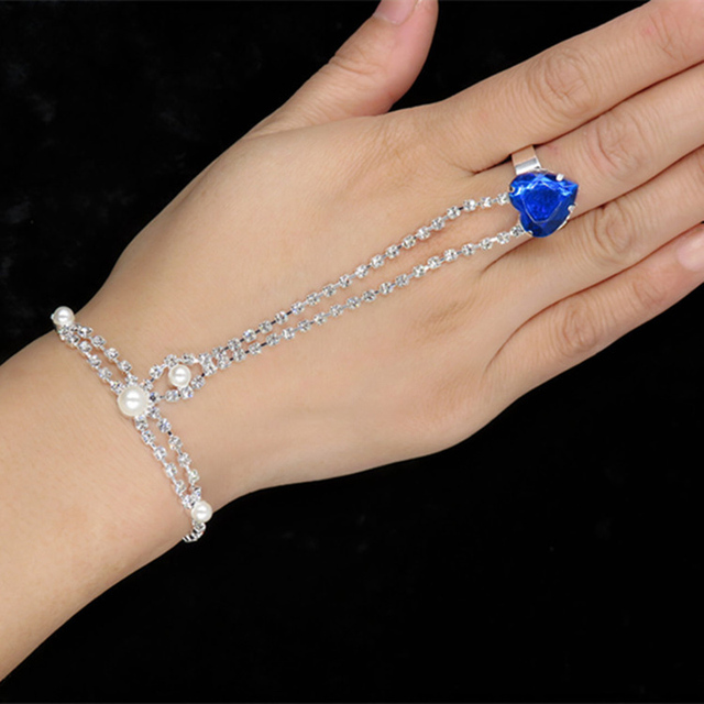 New fashion sexy lady girl dancing rhinestone chain gloves bracelet  wholesale