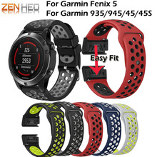 22mm Sport Straps for Garmin Fenix 5/5 Plus Smart Watch Easy Quick Fit Wristband For Garmin Forerunner 935/945 Bands Watchband