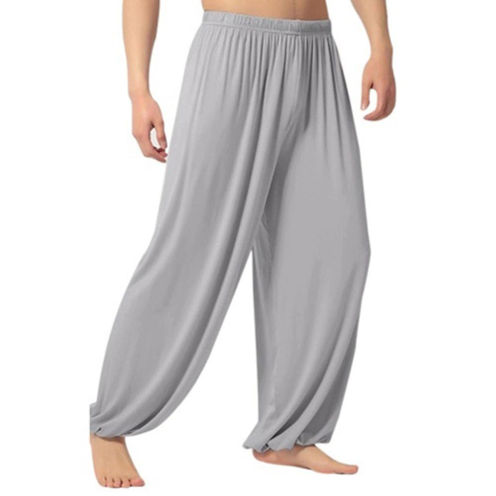 New Men's Casual Solid Color Baggy Trousers Belly Dance Yoga Harem Pants Slacks