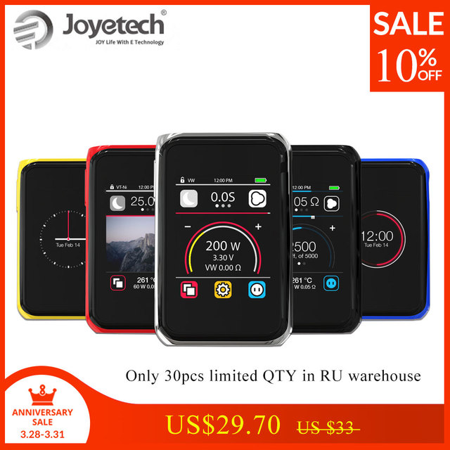 100% Original Joyetech Cuboid PRO Mod Kit Touch Panel Screen Used By 18650(not included) 200W Wattage e-Cigs