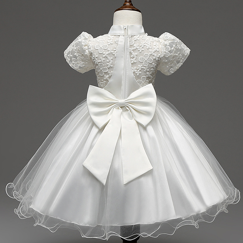 Lace Flower Girl Dresses Tulle Ivory Yellow Blue Gold Pink Kids