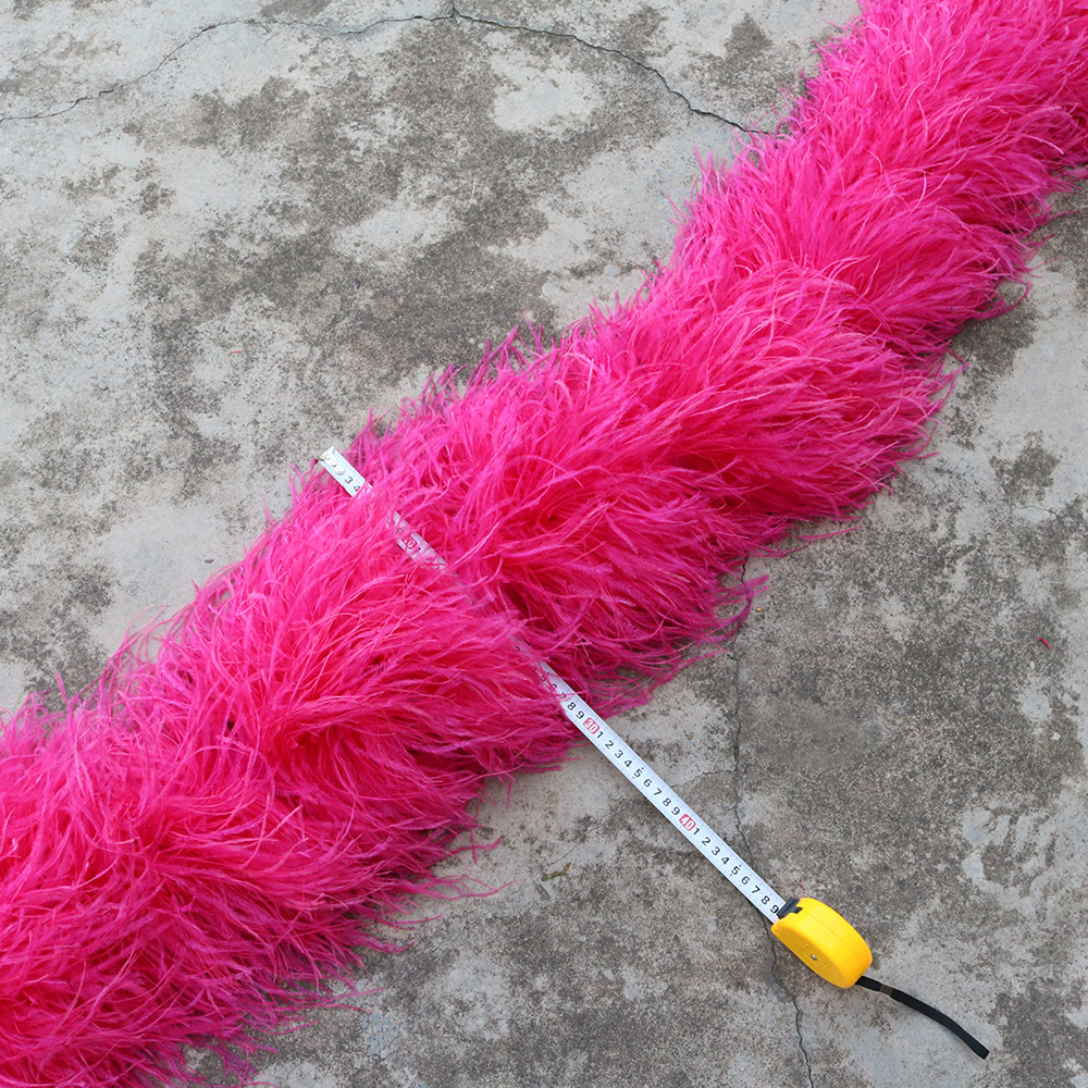 DHL gratuite Personnaliser 20ply plume D'autruche boa largeur 28-30 cm de plume de marabout boa franges bandes pour partie Carnaval spectacle artisanat