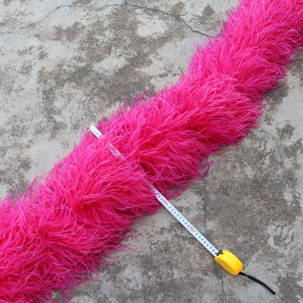 Dostosowane 20ply strusie pióra Boa szerokość 28 30cm marabut Boa z piór frędzle paski na imprezę karnawał pokaż szal rzemiosło w Pióro od Dom i ogród na  Grupa 1