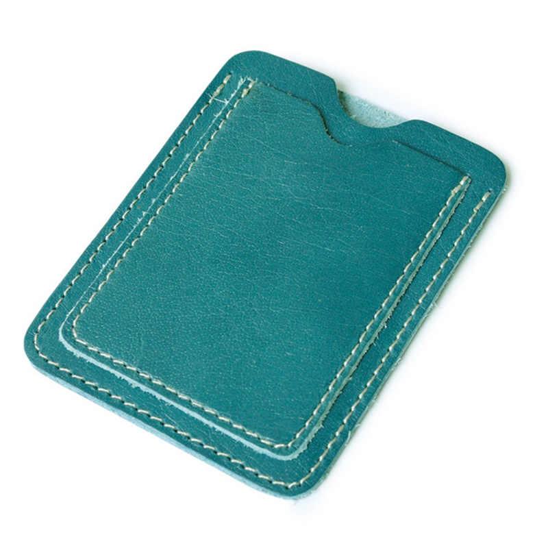 Délicat mince en cuir véritable permis de conduire poche carte de crédit bancaire étui mince carte d'argent liquide portefeuille hommes cartes d'argent paquet cartes titulaire