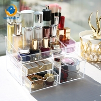 Desktop Cosmetics Storage Box Lipstick Rack Dressing Table Acrylic Girl Skin Care Finishing Drawer Jewelry Box
