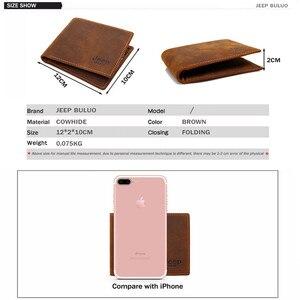 Image 2 - JEEP BULUO 高級ブランド紳士財布ビジネス牛本革の男性のカード財布財布最高品質ショート Carteira Masculina