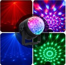 цена на Mini RGB Stage Lighting effect Lamp Light DJ Disco Ball Lumiere 3W Sound Projector  Music Christmas KTV Party