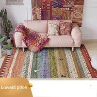 Nordic Moroccan Ethnic Geometric Kilim livingroom Carpets Simple Bedroom Living Room Carpet Bedside Blanket Study Mat