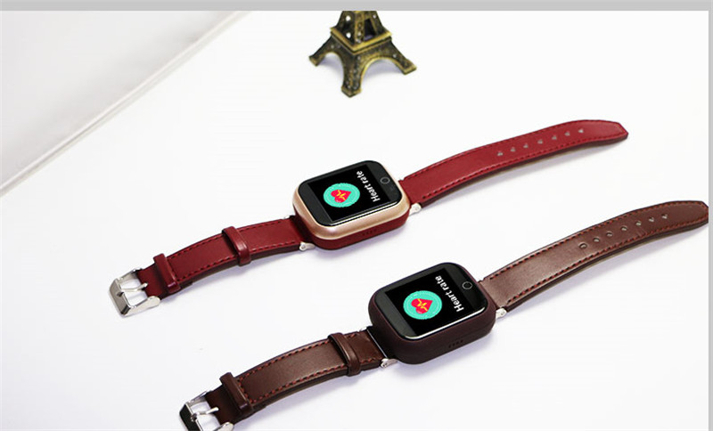 Montre de traqueur de 2019 GPS LBS pour les personnes âgées montre-bracelet d'enfant avec appel SOS montre de surveillance de fréquence cardiaque à distance Anti perdue sûre - 3