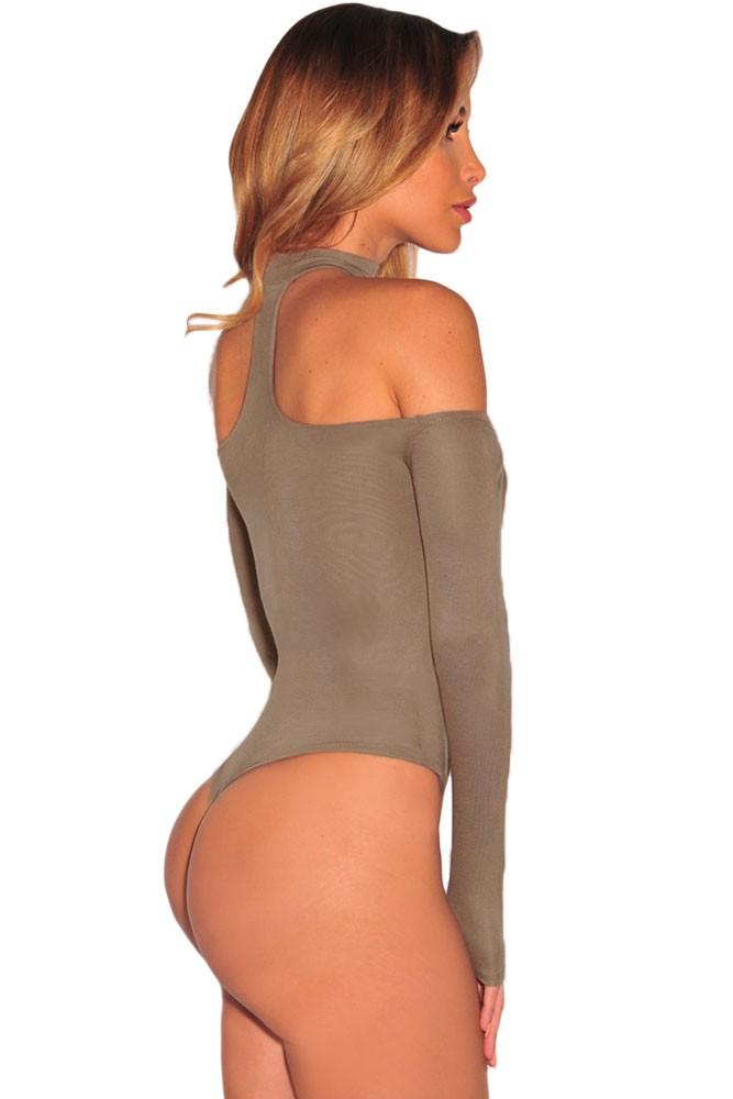 Brown-Choker-Off-Shoulder-Bodysuit-LC32066-17-3