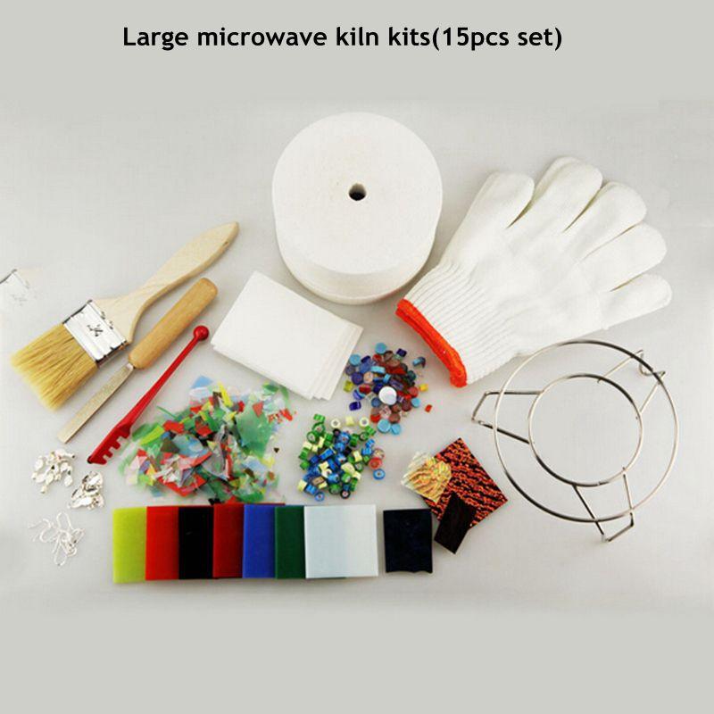 15pcs Set Professional Extra Large Microwave Kiln Kit For DIY Jewelry Glass Fusing