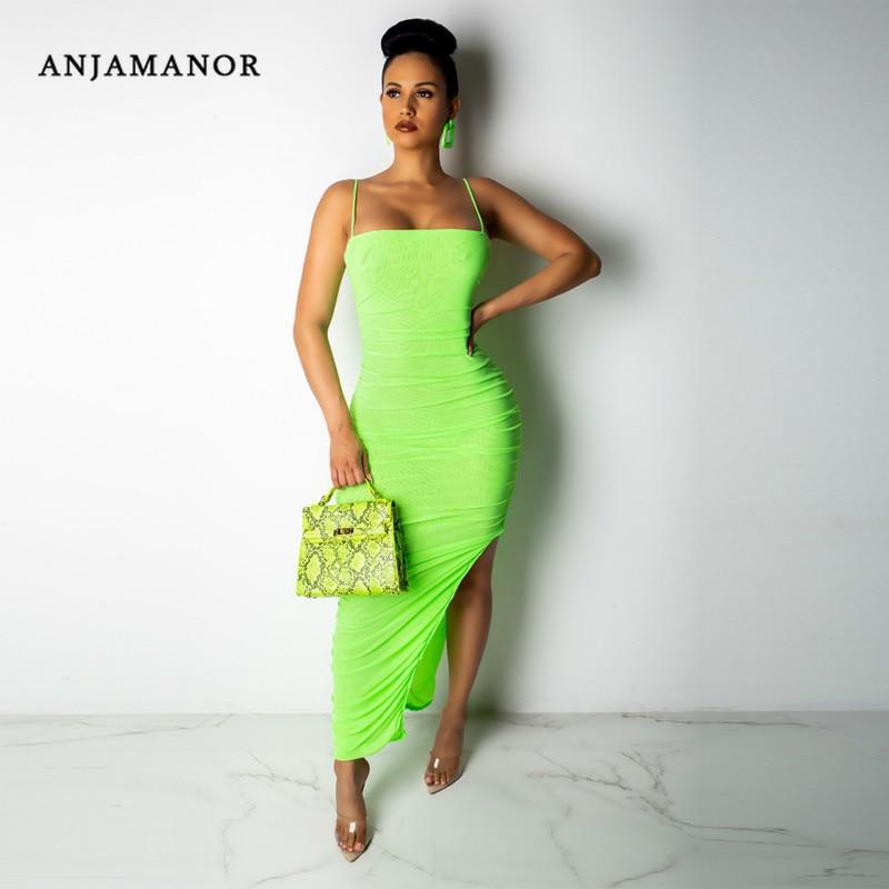 Shopping centre lime green bodycon dress