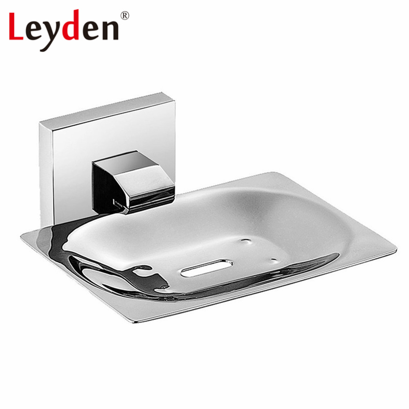 Leyden Stainless Steel Soap Holders Polished Chrome Bathroom Holder Wall Mounted Shower Bar Dish Accessories In Dishes From Home