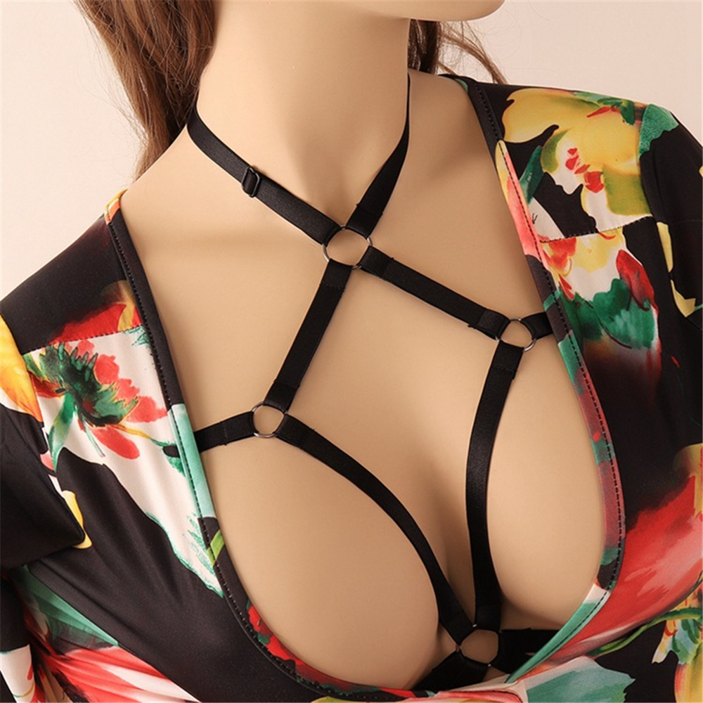 Sexy Hot Goth Lingerie Elastic Bandage Cage Bra Cupless Lingerie Bandage Body Belt Sexy Body Harness For Women Punk Body Straps