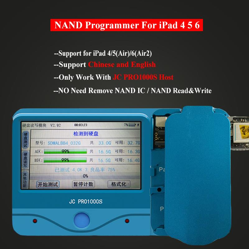 JC Pro1000S NAND Read Write Programmer Non-Removal IC Chip Module for iPad 4 5 6 iPad Air 1 2 iCloud Repair Tools