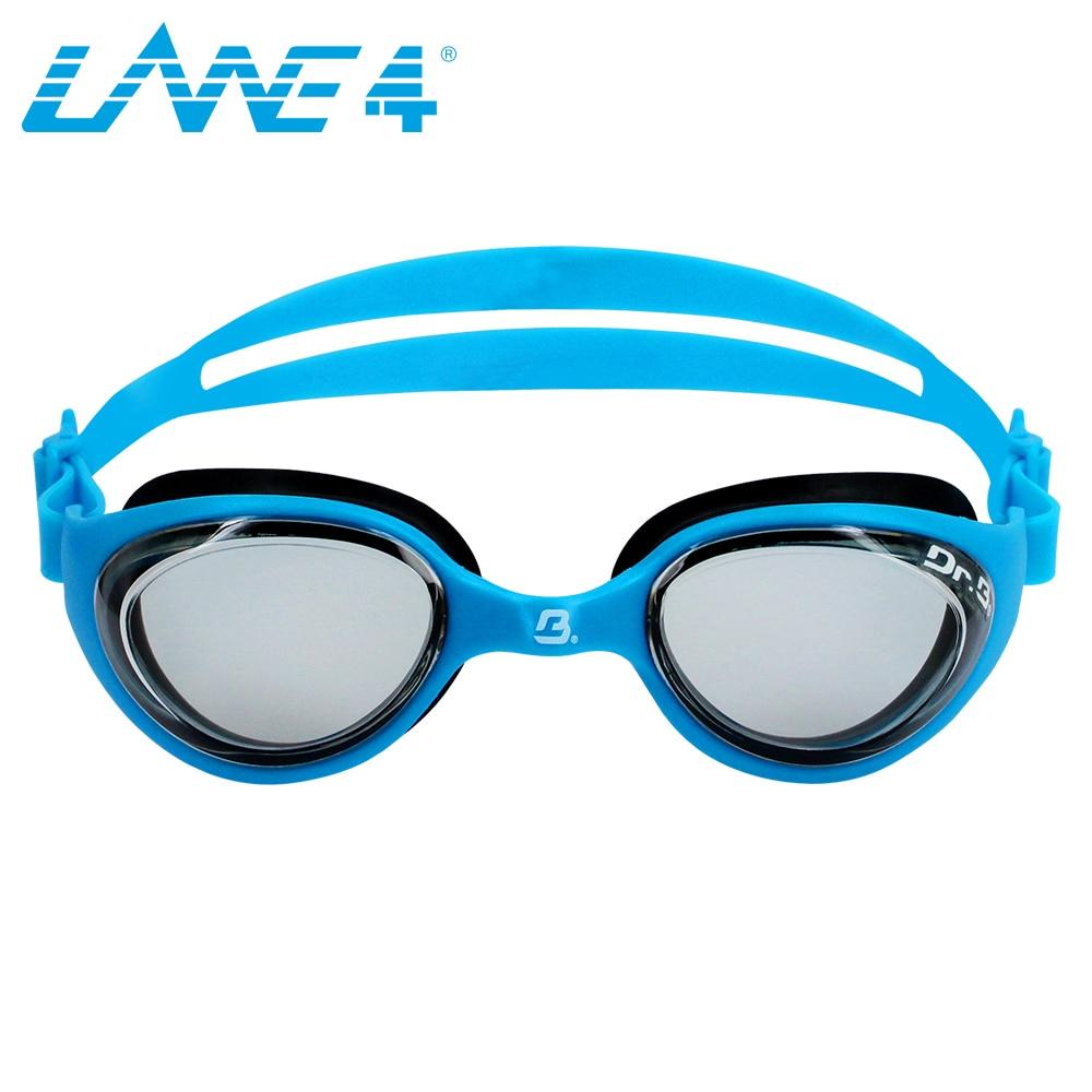 LANE4 Junior Optical Swim Goggle FUTURE RX Corrective Lenses, Comfortable No leaking Easy adjusting BLUE #73195 ...