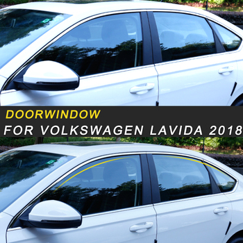 For Volkswagen Lavida 2018 Car Styling Gate Door Window Cover Frame Trim Sticker Exterior Accessories