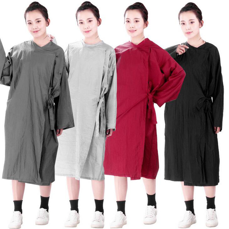 Professional Salon Smock Stylist Jacket Cosmetology Uniform Zipper Hairdressing Cape Beauty SPA Guest Client Kimono Gown Cloth