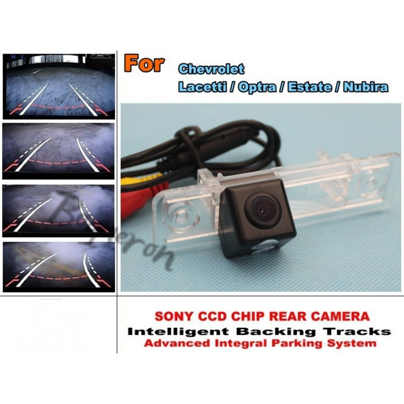 For Chevrolet Lacetti Optra Estate Nubira Smart Tracks Chip Camera / HD CCD Intelligent Dynamic Parking Car Rear View Camera for renault duster 2010 2014 smart tracks chip camera hd ccd intelligent dynamic parking car rear view camera