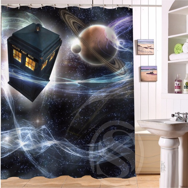 Beau H+P#283 Hot Sale Doctor Who#1 Custom Waterproof Shower Curtain Bathroom