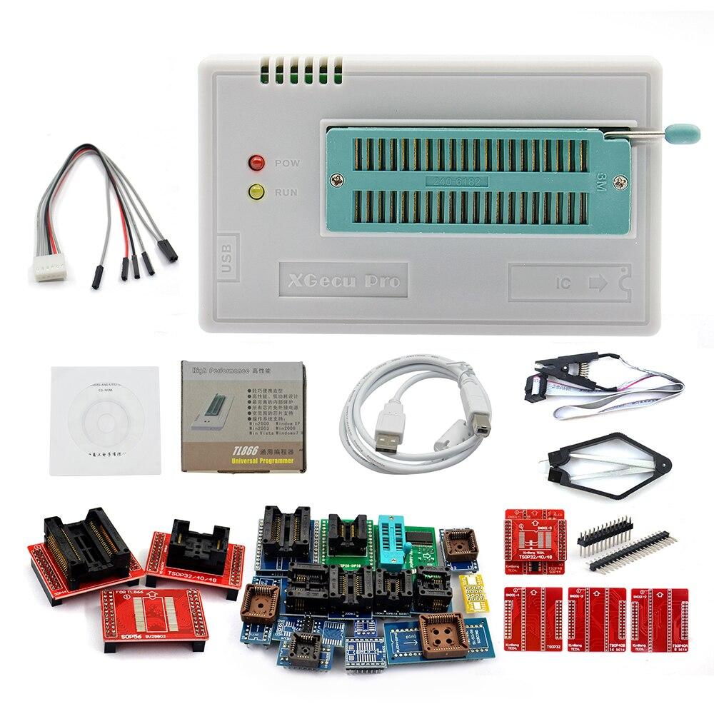 2019 Original minipro TL866II Plus programmer 24 adapters SOP8 test clip AVR eeprom better than TL866CS