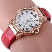 Fashion Bracelet Watch Women Unique Design Women's Dress watches Stainless Steel Quartz watch reloj mujer 2016 Relogio Feminino