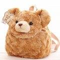 Candice guo! bonito brinquedo de pelúcia adorável brown urso de pelúcia macia mochila com cordão bolso de armazenamento saco dos doces do bebê presente de aniversário 1 pc