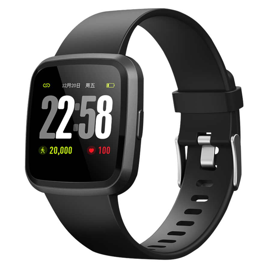 Montre Smart Watch V12 Bracelet Fitness Tracker SmartBand Bracelet Étanche Moniteur de Fréquence Cardiaque Sport activité tracker Smartwatch