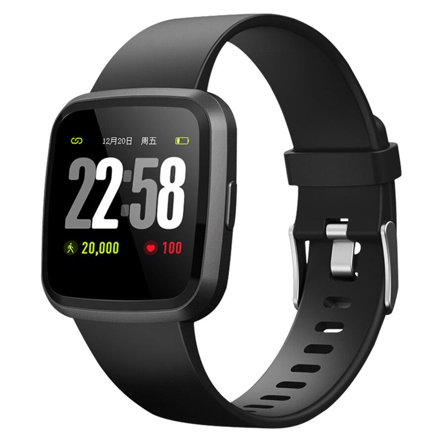 cf7e59a1c14e Reloj inteligente V12 pulsera Fitness Tracker SmartBand impermeable pulsera  Monitor de ritmo cardíaco deporte rastreador de actividad Smartwatch