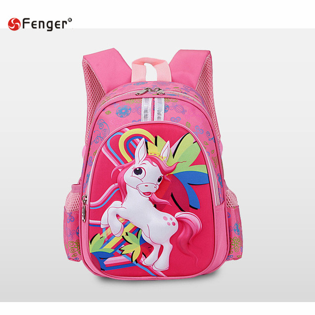 2016 New kids cartoon my little pony schoolbag girls lovely Backpack Schoolbag For Kids Children Christmas Gift Bags