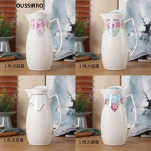 OUSSIRRO 1800ML Ceramic Pitchers Water Bottles Cold Kettle No Explosion Jug Large Capacity Household Thermos