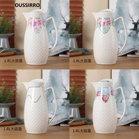 OUSSIRRO 1800ML Ceramic Pitchers Water Bottles Cold Kettle No Explosion Jug Large Capacity Household Ceramic Thermos